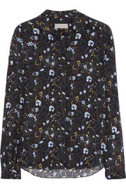 Mulberry Printed silk-crepe shirt