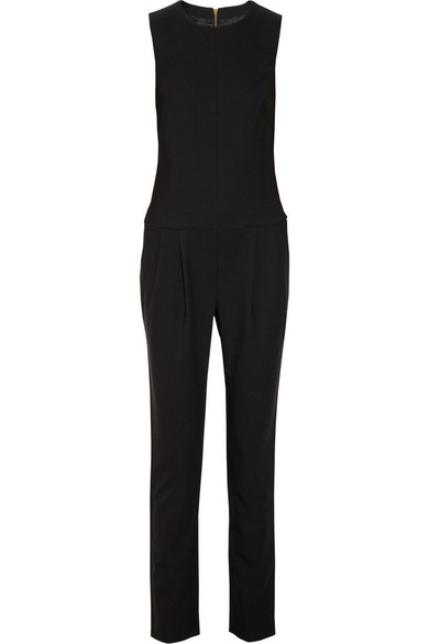 j brand parker gabardine jumpsuit net a porter com. Black Bedroom Furniture Sets. Home Design Ideas