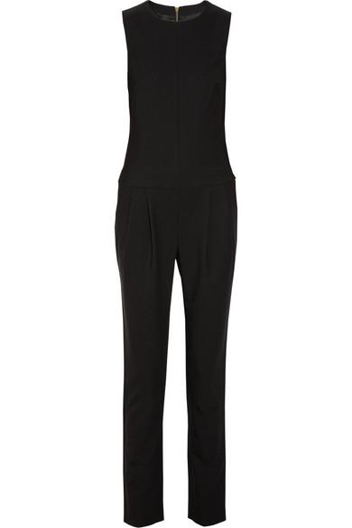 j brand parker gabardine jumpsuit net a porter com. Black Bedroom Furniture Sets. Home Design Ideas