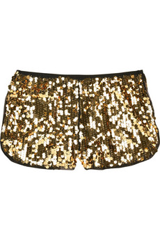 Anna Sui Paillette-embellished shorts