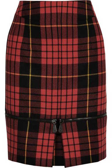a219f7edc8 McQ Alexander McQueen | Zipped-hem tartan wool skirt | NET-A-PORTER.COM