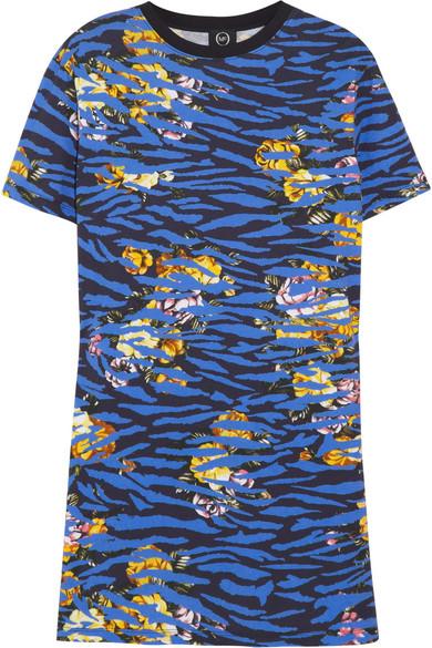 Printed cotton T shirt dress