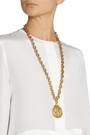 Bottega VenetaGold-plated cherub necklace