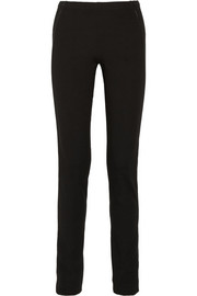 Donna Karan Modern Icons leather-trimmed ponte skinny pants