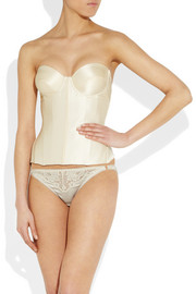 Ender Legard Corsetry Ava stretch-silk satin balconette corset