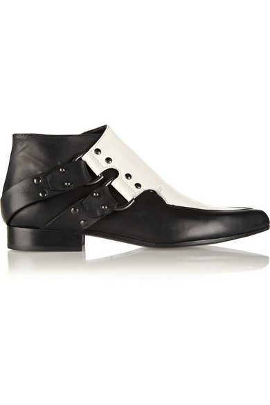 34fe269ee61b McQ Alexander McQueen. Two-tone leather ankle boots