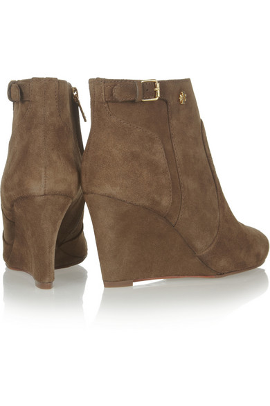 b01db1bac8fcf Tory Burch. Milan suede wedge ankle boots.  118.50. Zoom In