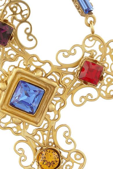 c03145ce3 Dolce & Gabbana. Gemme gold-plated Swarovski crystal cross clip earrings.  $1,475. Zoom In