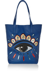 KENZO Eye-embellished leather tote