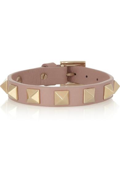 Valentino Rockstud Small Leather Bracelet Net A Porter Com