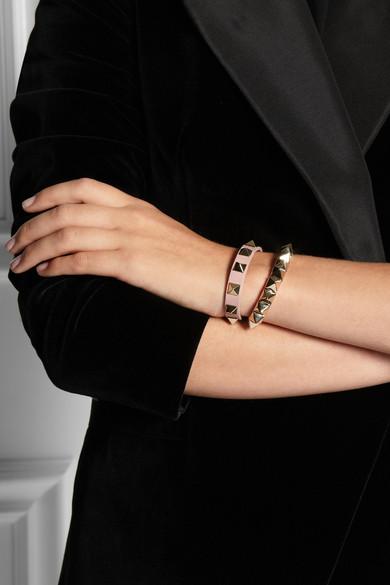 Valentino. Rockstud small leather bracelet
