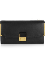 Lanvin Partition textured-leather clutch
