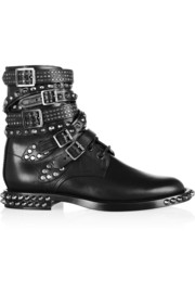Saint Laurent Signature Rangers studded leather boots