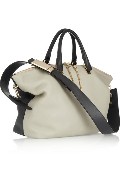 fake chloe bags uk - Chlo�� | Baylee medium two-tone leather tote | NET-A-PORTER.COM