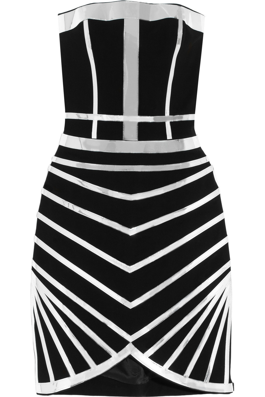 Black Serpentine Seduction Crepe Mini Dress Sass Bide Net A Porter