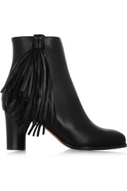 Christian Louboutin Jimmynetta 70 fringed leather ankle boots