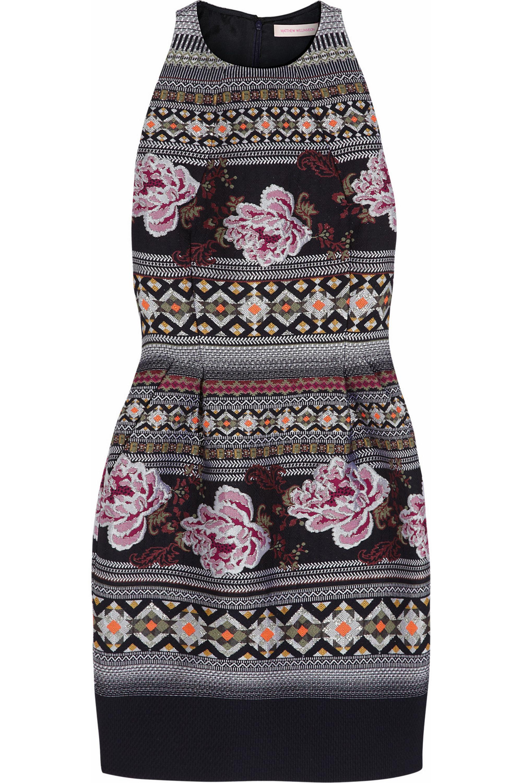 Matthew Williamson Metallic jacquard mini dress