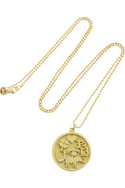 Good Luck 18-karat gold diamond necklace
