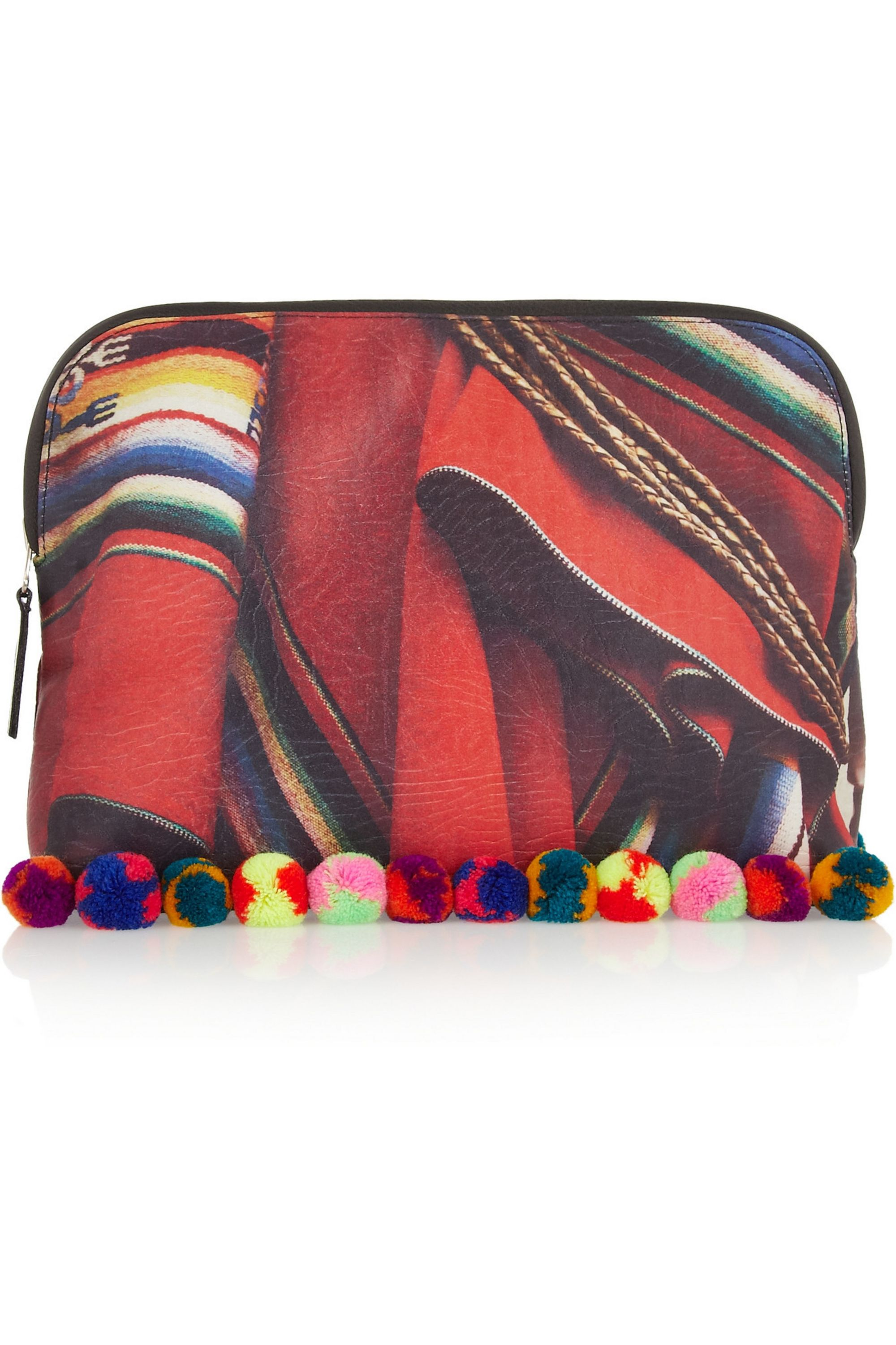 MARIO TESTINO FOR MATE Liwi printed textured-satin clutch