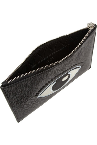 50fade327ce KENZO | Eye-embroidered textured-leather pouch | NET-A-PORTER.COM