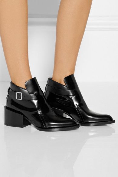 98cc456b714f Jil Sander. Polished-leather ankle boots