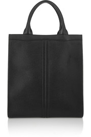 Valextra Medium textured-leather tote