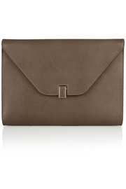 Valextra Isis textured-leather clutch