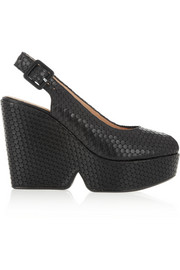 Robert Clergerie Doha textured-leather sandals