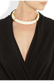 Aurélie Bidermann Caftan Moon gold-plated and acetate collar necklace