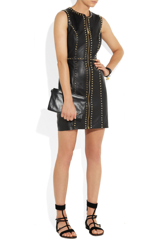 Versus Versace Studded leather mini dress
