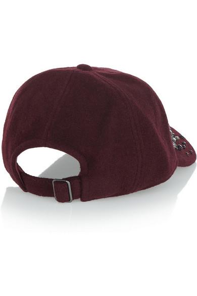 abc21cd2f Embellished wool-blend felt baseball cap