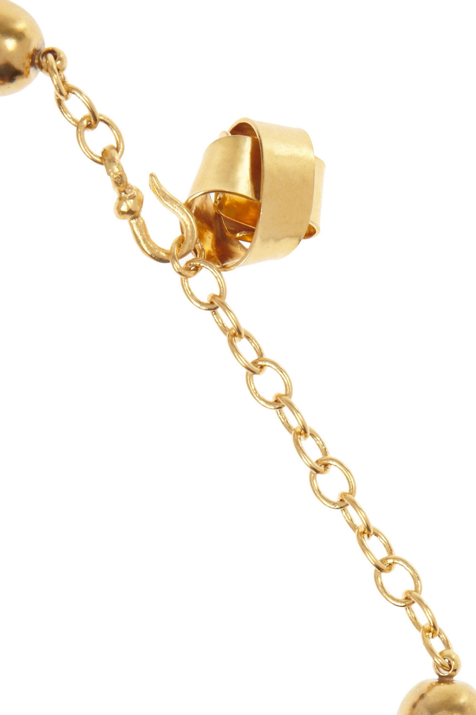 Hervé Van der Straeten Hammered gold-plated rope necklace