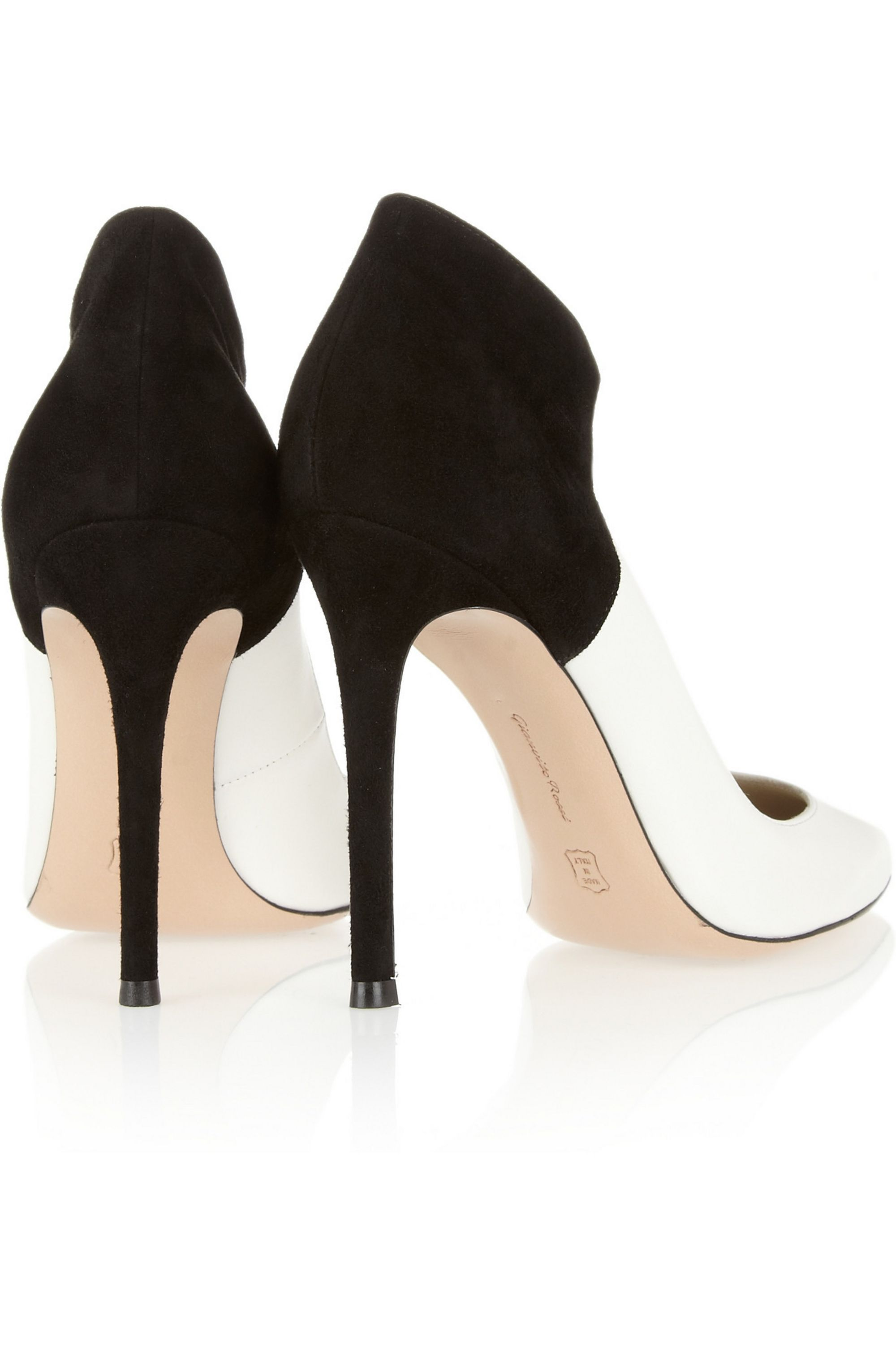 Gianvito Rossi Two-tone leather and suede pumps
