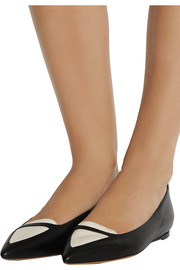 Tabitha Simmons Alexa two-tone leather flats