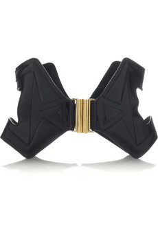 Alexander McQueen Cutout patent leather belt