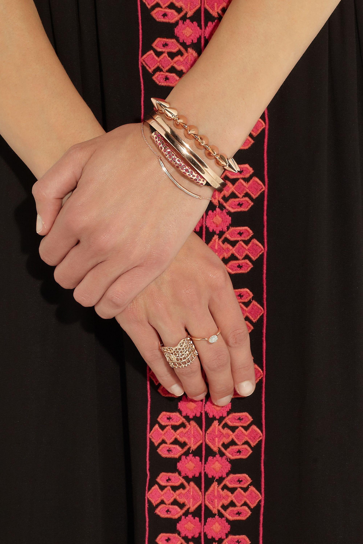 Monica Vinader Rose gold-plated diamond bracelet