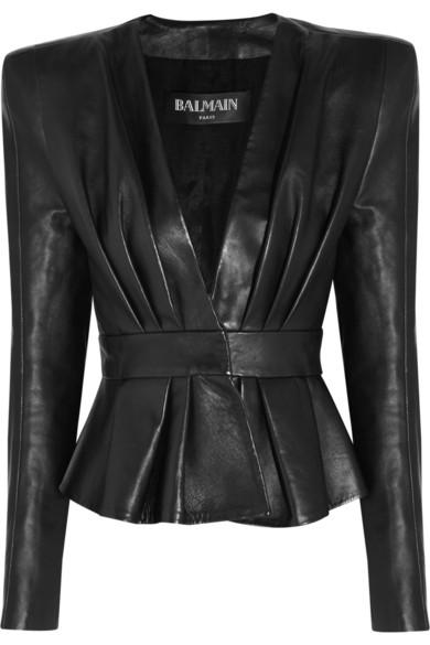 Sale alerts for Leather jacket Balmain - Covvet