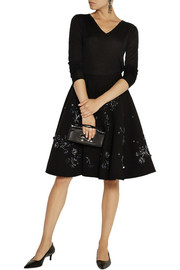 Miu Miu Embellished wool-crepe skirt