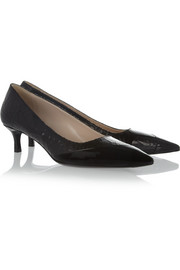 Miu Miu Cracked and patent-leather pumps