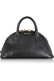 Miu Miu Bugatti textured-leather tote
