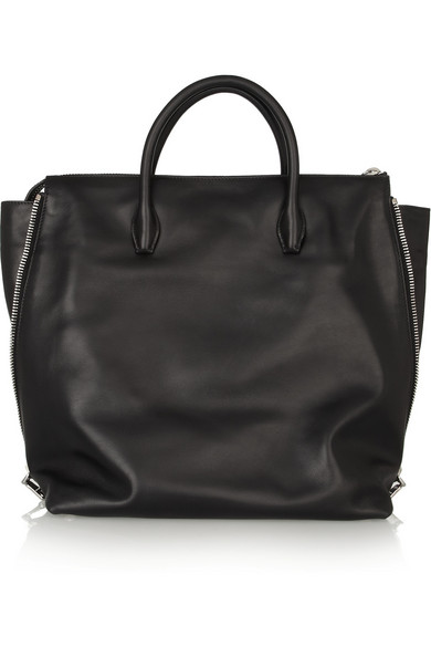 Miu Miu Zip-detail Leather Tote