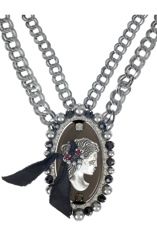 Lanvin Cameo chain necklace