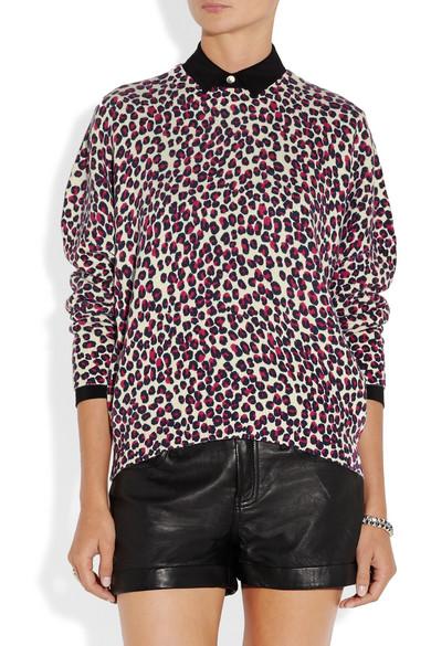 70a68162a4d2 DKNY | Leopard-print wool-blend sweater | NET-A-PORTER.COM