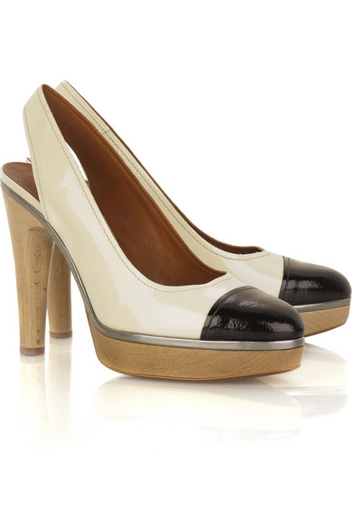 Lanvin Leather Slingback Pumps sneakernews sale online discount sast get authentic cheap online clearance sale Jt6zKG