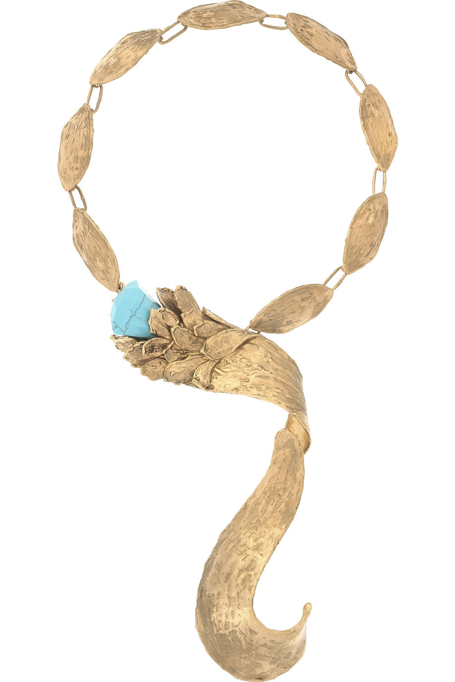 Roberto Cavalli Large leaf necklace  | NET-A-PORTER.COM