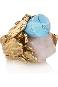 Roberto CavalliLarge stone ring
