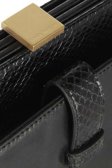 1059a9b51a38 Linda Farrow. + Bottega Pb1 leather and watersnake clutch. £1