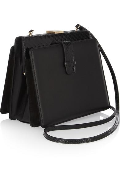 3aa3d305c7e7 Linda Farrow. + Bottega Pb1 leather and watersnake clutch