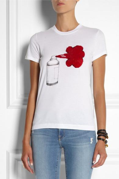 markus lupfer spray can paint cotton jersey t shirt net a porter. Black Bedroom Furniture Sets. Home Design Ideas