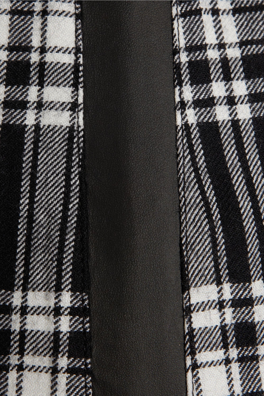 Karl Lagerfeld Punk tartan wool mini dress
